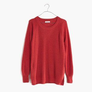 Madewell Burnt Orange Waffle Knit Pullover Sweater